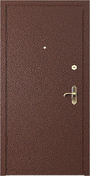металлическая дверь порошковым напылением